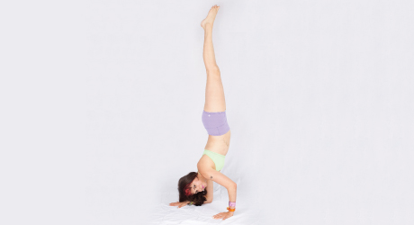 one forearm stand  yoga magazine